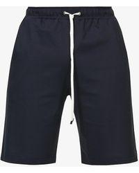 Zimmerli Hose Regular-fit Cotton Shorts - Blue