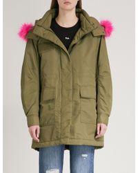 Mo&co. - Faux Fur-trim Padded Coat - Lyst