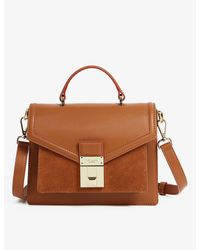 Ted Baker Kimmies luggage Lock-detail Leather Satchel Mini Bag - Brown