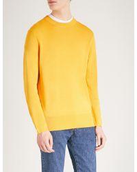 Sandro - Crewneck Silk And Cotton-blend Jumper - Lyst