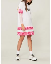 A Bathing Ape Oversized Camouflage-print Cotton T-shirt - Pink