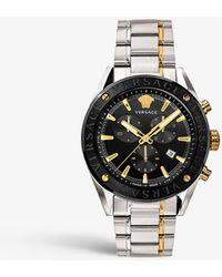 Versace Vehb00619 V-chrono 18ct Yellow-gold Plated Stainless-steel Quartz Watch - Metallic