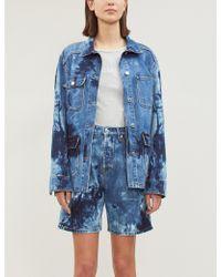 Calvin Klein Logo-print Slim-fit T-shirt - Blue