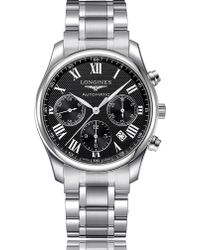 Longines - L2.693.4.51.6 Master Collection Stainless Steel Chronograph Watch - Lyst