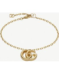 Gucci - Double G 18ct Yellow-gold Bracelet - Lyst