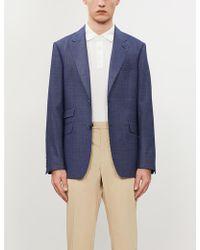 Gieves & Hawkes Regular-fit Single-breasted Virgin Wool Blazer - Blue