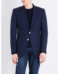 Tom Ford | Hopsack Woven Slim-fit Wool And Mohair-blend Jacket | Lyst