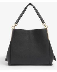 COACH Dalton Leather Metal Bar Shoulder Bag - Black