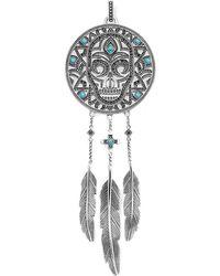 Thomas Sabo Rebel At Heart Dreamcatcher Sterling Silver Pendant - Metallic