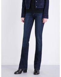 PAIGE Manhattan Slim-fit Bootcut Mid-rise Jeans - Black