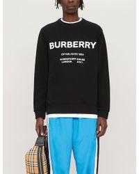 Burberry - Black Cotton Sweatshirt - Lyst