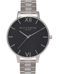Olivia Burton - Ob15bl25 Big Dial Silver-plated Watch - Lyst