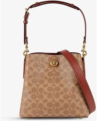 COACH Willow Coated Canvas And Leather Bucket Bag - Brown