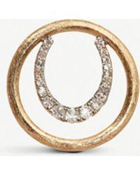 Annoushka Horseshoe 18ct Yellow Gold And Diamond Hoopla - Metallic