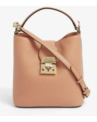 Mark Cross Murphy Small Grained-leather Shoulder Bag - Brown