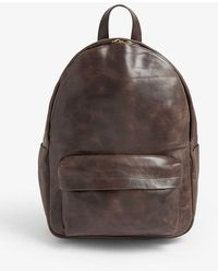 Eleventy Leather Backpack - Brown