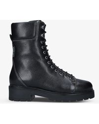 Kurt Geiger Brent Laced Leather Ankle Boots - Black