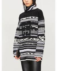 Givenchy - GG Logo Sequin-embellished Wool-blend Jumper - Lyst