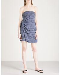 Free People - Oceanside Cotton-blend Mini Dress - Lyst