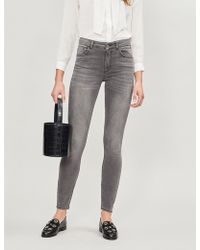 Claudie Pierlot - High-rise Faded Skinny Jeans - Lyst