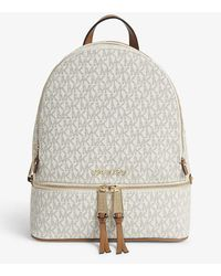 MICHAEL Michael Kors Rhea Zip Md Backpack Vanilla - White