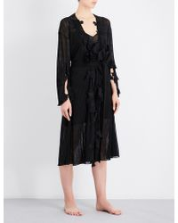 Aimee Kestenberg - Floral-embroidered Knitted Robe - Lyst