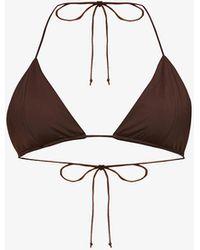 Myra Swim Sofia Triangle-cup Bikini Top - Brown