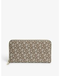 DKNY Bryant Textured Leather Zip-around Purse - Multicolor