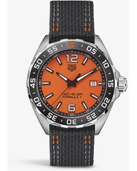 Tag Heuer Waz101a. Fc8305 Formula 1 Stainless-steel And Synthetic Quartz Watch - Black