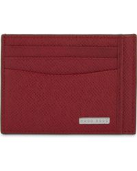 BOSS | Signature Leather Card Holder | Lyst