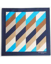 Richard James - Patterned Silk Pocket Square - Lyst