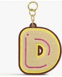 Chaos Initial D Chenille luggage Tag - Metallic