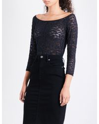 GOOD AMERICAN - Off-the-shoulder Lace-detail Body - Lyst