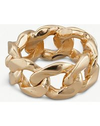 Emanuele Bicocchi - 24ct Yellow-gold Plated Chain Ring - Lyst