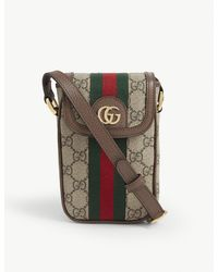 Gucci GG Ophidia Phone Canvas Cross-body Wallet - Natural