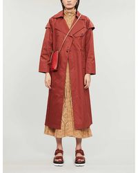 TOPSHOP Brick Red Editor Trench