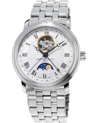 Frederique Constant - Fc-335mc4p6b2 Classics Moonphase Automatic Stainless Steel Watch - Lyst