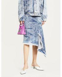 Balenciaga - Asymmetric Denim Skirt - Lyst