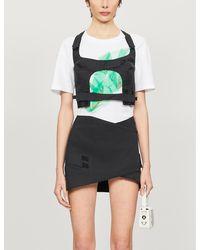 CHARLOTTE KNOWLES Embrace Asymmetric Cotton-blend Mini Skirt - Black