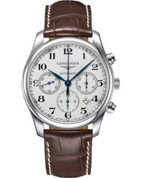 Longines - L2.759.4.78.5 Master Collection Stainless Steel Chronograph Watch - Lyst
