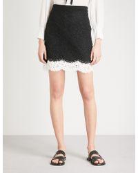Claudie Pierlot - Floral-lace Mini Skirt - Lyst