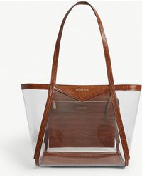 0dc3474c1481 MICHAEL Michael Kors - Whitney Large Pvc And Croc-embossed Leather Tote Bag  - Lyst