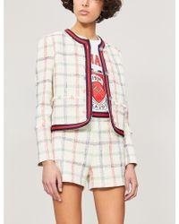 Claudie Pierlot Ela High-rise Tweed Shorts - White
