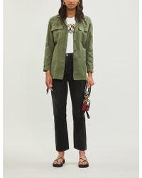 Sandro Cotton Utility Jacket - Green