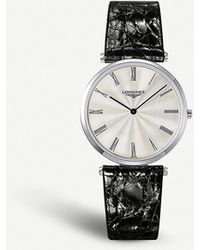 Longines L4.755.4.71.2 La Grande Classique Stainless Steel And Alligator Leather Watch - Metallic