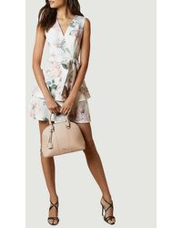 Ted Baker Dewana Bouquet Floral-print Woven Mini Dress - White