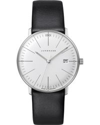 Junghans 047/4251.00 Max Bill Stainless Steel And Leather Quartz Watch - Metallic