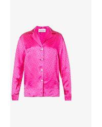 Art Dealer Lauren Polka-dot Silk Shirt - Pink