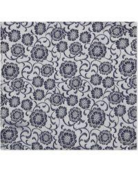 Duchamp - Floral Silk Pocket Square - Lyst