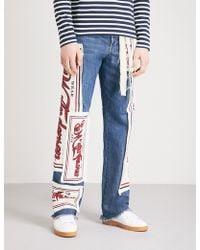 JW Anderson - Branded Appliqué Regular-fit Straight Jeans - Lyst
